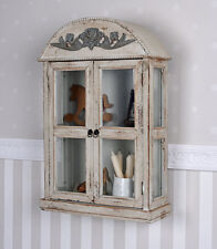 Wall Showcase Shabby Chic Cabinet Antique Hanging Display Vintage