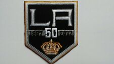 NHL LOS ANGELES L A  KINGS JERSEY SHIRT JACKET HOODIE SWEATER HOCKEY 50TH PATCH