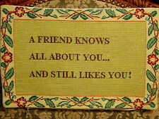 """""""A Friend Likes YOU"""" Tapestry Pillow Cover"""