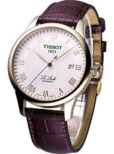Tissot Le Locle Automatic Cream Dial Leather Men Watch T0064073626300 New in Box
