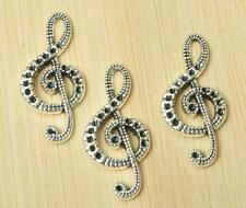 40pcs Charm Tibetan silver notes pendant linker jewelry earring connector 33mm
