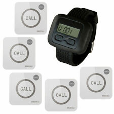 SINGCALL Wireless Nursing Calling System for Hospital 1 Watch 5 Touch Buttons