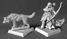 Adowyn Iconic Hunter and Wolf 60181 -Pathfinder Reaper Miniatures D&D Gaming