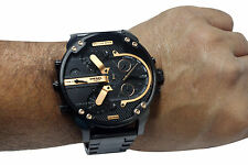 Diesel Men's DZ7312 The Daddies Series Analog Display Analog Quartz Black Watch