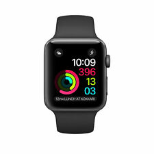 Apple Watch Series 2 38mm Space Gray Aluminum Black Sport Band-F/Seal+Free Ship.