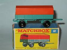 MATCHBOX REGULAR WHEELS 02 Mercedes Trailer MINT  in F1 Type Box
