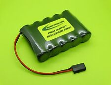 6v 2500 AA TWICELL  ENELOOP FLAT BATTERY 4 RC AIRPLANES / FUTABA J / MADE IN USA