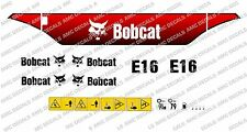 BOBCAT E16 MINI SET DI ADESIVI DECAL SCAVATRICE