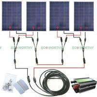 400W solar panel complete kit home system for 24V RV PV battery Charger 4x 100W