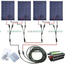 400W COMPLETE KIT:  4*100W  Poly Solar Panel for 24V system Cabin RV Boat Home