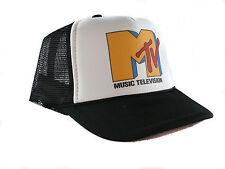 Vintage Mtv music television Trucker Hat snap back hat black auction or buy it