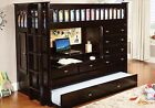 Kid's or Teen Twin Loft/Bunk Bed with Storage, Desk, Dresser, Trundle in One!