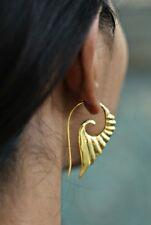 New Brass Earring Wings Dangle Hook Vintage Gypsy Fashion Jewelry Tribal Women