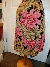 April Cornell Black Skirt New L Large Vintage Romantic Tulle NWT Floral Pink