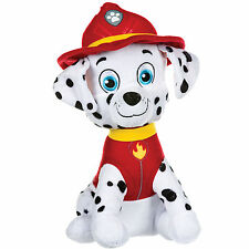 """NEW OFFICIAL 12"""" PAW PATROL SITTING MARSHALL PUP PLUSH SOFT TOY NICKELODEON DOGS"""