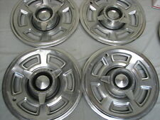 "1965 Pontiac GTO Factory 15"" Spinner Hubcaps Lemans Tempest"