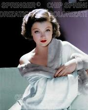 MYRNA LOY WEARING A FUR COLLAR ROBE BEAUTIFUL COLOR PHOTO BY CHIP SPRINGER