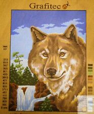 WOLF AND WATERFALL - Tapestry Canvas (New) by GRAFITEC