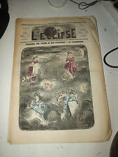 L'ECLIPSE,N°119  journal du 1 mai 1870,( phases de lune et de l )  par ladreyt