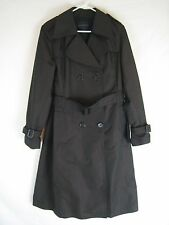 Banana Republic Brown Double Breasted Belted Rain Trench Coat Size L Large