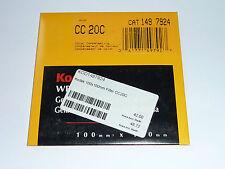 Kodak Wratten Filter  100mmx100mm   No. CC 020C
