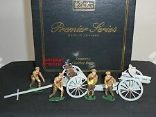 BRITAINS 8912 4.5 HOWITZER GUN + LIMBER + 4 MAN KHAKI DETACHMENT TOY SOLDIER SET