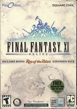 Final Fantasy XI (PC, 2003)  With Rise of the Zilart Expansion Pack