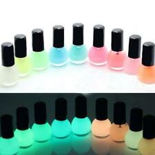Glow in the Dark Neon Fluorescent Nail Polish Varnish Luminous Paint 12 color PS