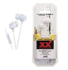 JVC HA-FR201W In Ear Stereo Headphones Remote & Mic HAFR201 White /GENUINE