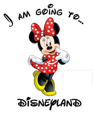 ***I'M GOING TO DISNEY MICKEY MINNIE  DISNEYLAND  T-SHIRT IRON ON TRANSFER