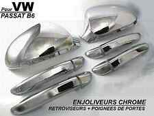 SET CHROME SIDE MIRRORS + DOOR HANDLE COVERS VW PASSAT B6 2005-2010 TDI FSI TFSI