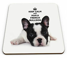 Keep Calm And Hug A French Bulldog Glossy Mug Coaster