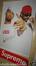 Supreme X Dipset foto TEE POSTER a4 (260gsm) 21x30 cm BOX extra adesivo del logo