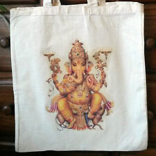 Cream Cotton Ganesha Eco Friendly Natural Tote Bag Shopper