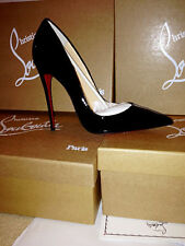 NEW IN BOX Christian Louboutin So Kate 120mm Black Patent Leather Sz 36.5 / 6.5