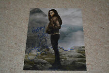 LINDSEY MORGAN signed  Autogramm 20x25 cm In Person THE 100 Raven + OSTERGRUß !!