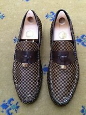 Louis VUITTON Scarpe Da Uomo Marrone Cavallino Nappa Mocassini UK 11 US 12 EU 45