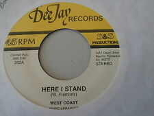 WEST COAST~ HERE I STAND~ A KILLER TWO SIDER~ NEAR MINT~ WHAT'S YOUR~ DOO WOP 45