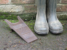 Cast Iron Metal Vintage Style Industrial Boot Jack. Country Farm Allotment.