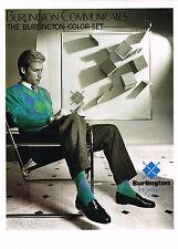 PUBLICITE ADVERTISING 054  1986  BURLINGTON chaussettes hommes pull COLOR-SET