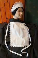 VICTORIAN FRENCH MAID COSTUME WAITRESS APRON HAT HEADBAND POST FREE