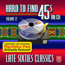 New CD Hard To Find 45s On CD Volume 17 Late Sixties Classics 21 Tracks 60s