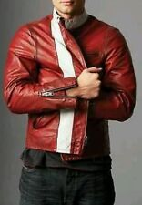 GAP PRODUCT RED LEATHER CAFE RACER VTG MOTORCYCLE BIKER JACKET S M L XL XXL