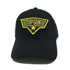 US NAVY TOP GUN STAR GOLD Patch Baseball Adjustable Black Cap Hat - TGS01