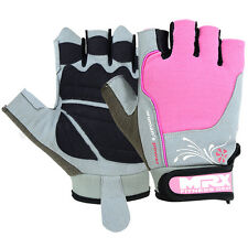 Weight Lifting Gloves Womens Power Training Gym Fitness Glove Leather Pink, MED