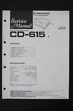 Pioneer cd-615 original Crossover network service-manual/schéma de branchement/Diagram o101