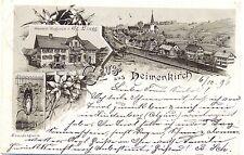 Heimenkirch / Allgäu, m. Waren-Magazin Lingg, frühe AK 1896