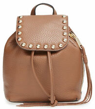 *NWT* Rebecca Minkoff Almond Leather Micro Unlined Backpack Pebbled NEW Bag $245