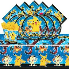 Pokemon Pikachu and Friends Birthday Party Tableware Pack For 16