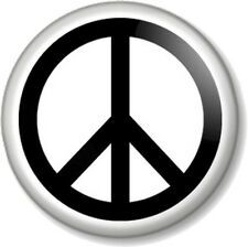 "Peace Symbol (2) 25mm 1"" Pin Button Badge Pacifist Ban the Bomb Sign Hippie Love"